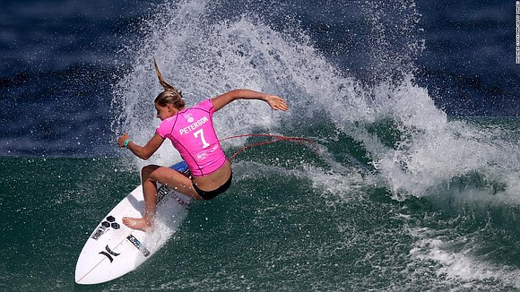 Surfer Lakey Peterson has a natural instinct for competitiveness -- something which she is hoping to display at the Olympics ...