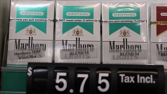 We're talking about restrictions on menthol flavored tobacco