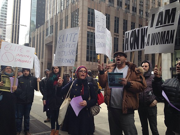 Last week, members of 32BJ, along with security offices, rallied outside of 1180 Sixth Ave. to protest cuts to their ...