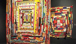 """""""Soulful Stitching"""" is on display at the Davis Museum at Wellesley College."""
