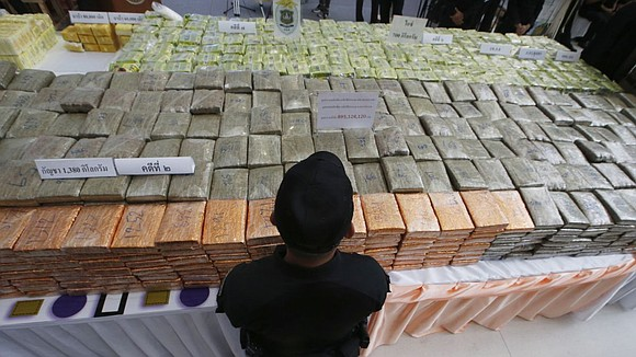 Authorities in Thailand seized hundred of kilograms of crystal methamphetamine Tuesday in the largest haul of its type in the ...
