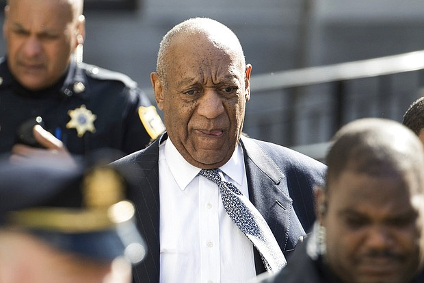 Bill Cosby leaves the Montgomery County Courthouse after jury selection for his sexual assault retrial, Wednesday, April 4, 2018, in Norristown, Pa. (AP Photo/Chris Szagola)
