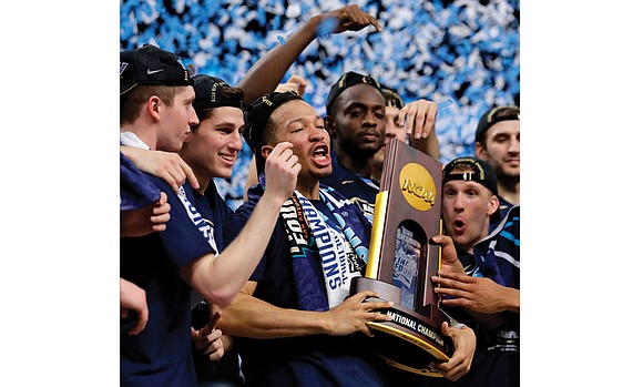 Villanova University has climbed to the top step of college basketball's highest staircase. And the Wildcats made it the old-fashioned ...
