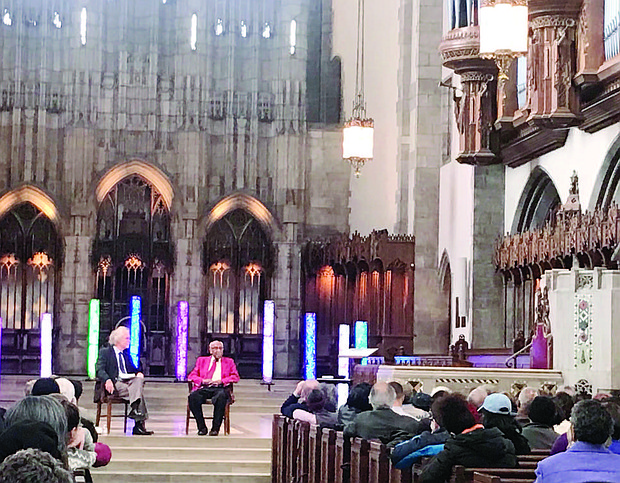 Timuel Black recently spoke at the Rockefeller Memorial Chapel in honor of the 50th anniversary of Dr. Martin Luther King Jr.'s assassination. Black worked closely with King during the civil rights movement and was instrumental in orchestrating King's first Chicago appearance in April of 1956 where he gave a moving speech at the same venue.  Photo: Katherine Newman