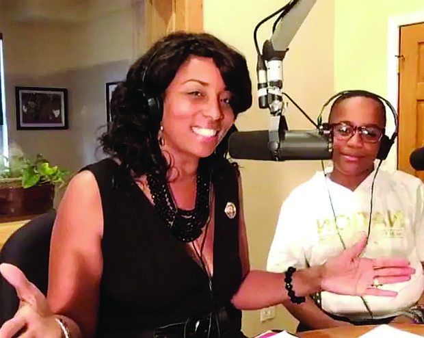 Bertina Power (left), the voice of EmPower Hour, a talk show that she hosts and produces,