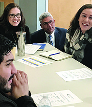 Students and community members join City Colleges of Chicago Chancellor Juan Salgado to discuss the new fair, affordable tuition proposal that was recently approved by the City Colleges of Chicago Board of Trustees.