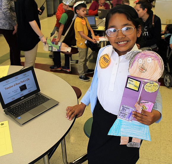 Second grade students at Troy Craughwell Elementary School presented themselves as famous historical figures at the school's recent Wax Museum.