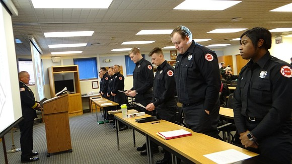 This week, the Joliet Fire Department welcomed eight new hires to the city including its first female officer