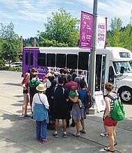 The free Explore Washington Park shuttle provides transportation to iconic Washington Park with stops to the Oregon Zoo, Hoyt Arboretum, the International Rose Test Garden and Portland Japanese Garden.