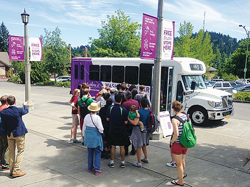 The free Explore Washington Park shuttle provides transportation to iconic Washington Park with stops to the Oregon Zoo, Hoyt Arboretum, the International Rose Test Garden and Portland Japanese Garden.