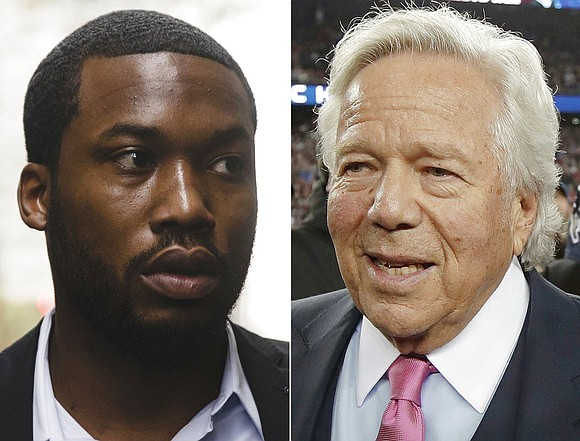 New England Patriots owner Robert Kraft is calling for reform of the criminal justice system after visiting rapper Meek Mill ...