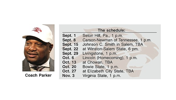 Virginia Union University's upcoming football season will be top heavy with home games.