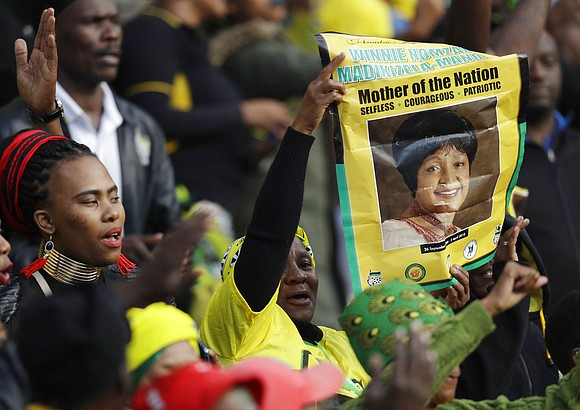 Tens of thousands of people sang, cheered and cried as the flag-draped casket of anti-apartheid activist Winnie Madikizela-Mandela was escorted ...