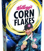 Mike Schultz's Gold Medal Edition Kellogg's® Corn Flakes® Box.