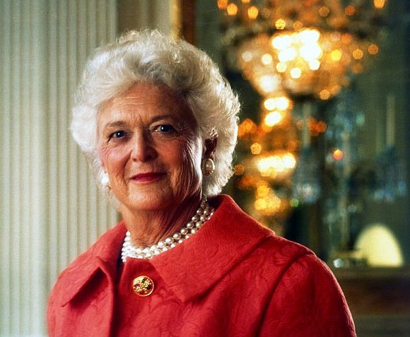 Former First Lady Barbara Bush, wife of 41st President George H.W. Bush and mother of 43rd President George W. Bush, ...
