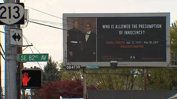 A string of billboards designed to raise awareness about black people who have died in police shootings are turning heads ...