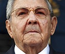 "In this March 17, 2015 file photo, Cuba's President Raul Castro listens to the playing of national anthems during his welcome ceremony at the Miraflores presidential palace in Caracas, Venezuela. On April 19, 2018 Castro will step down as president after a decade in office. He will remain first secretary of the Communist Party, described by the Cuban constitution as the country's ""highest guiding force."" (AP Photo/Ariana Cubillos, File)"