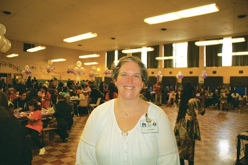 Martin Luther King Jr. School Principal Jill Sage at the 50th anniversary celebration of the school's renaming.