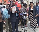 Family of Saheed Vassell hold press conference at City Hall