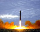 This Aug. 29, 2017, file photo shows what was said to be the test launch of a Hwasong-12 intermediate range missile in Pyongyang, North Korea. North Korea said Saturday, April 21, 2018, it has suspended nuclear and long-range missile tests and plans to close its nuclear test site. (Korean Central News Agency/Korea News Service via AP, File)