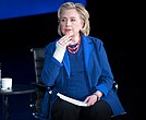 In this April 13, 2018 file photo, Hillary Clinton speaks during the ninth annual Women in the World Summit in New York. (AP Photo/Mary Altaffer, File)