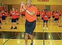 Benson High Principal Curtis Wilson Jr. inspires students by teaching a Zumba dance class earlier this year. The school administrator was just named Oregon High School Principal of the Year.