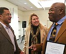 Robin Washington (left) chats with the Rev. Kristin Stoneking, then executive director of the Fellowship of Reconciliation, and Charles McDew at Hamline University in St. Paul, Minn., in November 2014. McDew, who was the second chairman of the Student Nonviolent Coordinating Committee from 1960-63 at the height of the Civil Rights Movement, was being honored by the FOR as Peacemaker of the Year. McDew, of St. Paul, died on April 3 in Newton, where he was visiting for Passover.