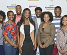 The NNPA's 2017 Discover The Unexpected Journalism Fellows (from left-right): Noni Marshall (Howard University); Alexa Imani Spencer (Howard University); Darrell Williams (Morehouse College); Tiana Hunt (Clark Atlanta University); Ayron Lewallen (Morehouse College); Taylor Burris (Spelman College); Jordan Fisher (Clark Atlanta University); and Kelsey Jones (Spelman College).