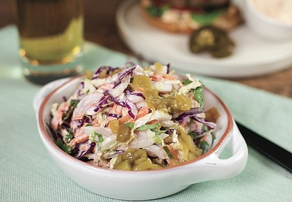 Coleslaw with Green Chile Dressing