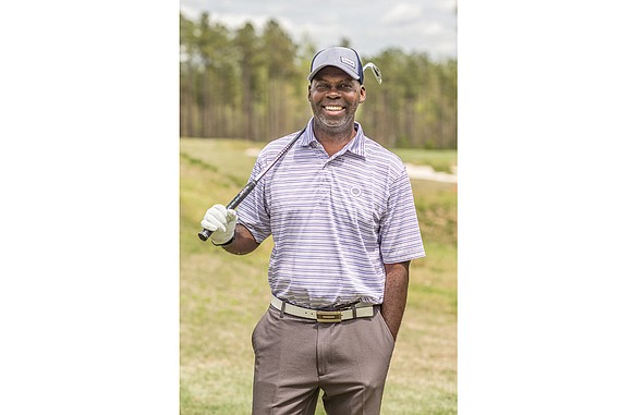 Retired Army officer Duncan Hardcastle has become the golfing star with the stripes. The 51-year-old Midlothian resident also draws attention ...
