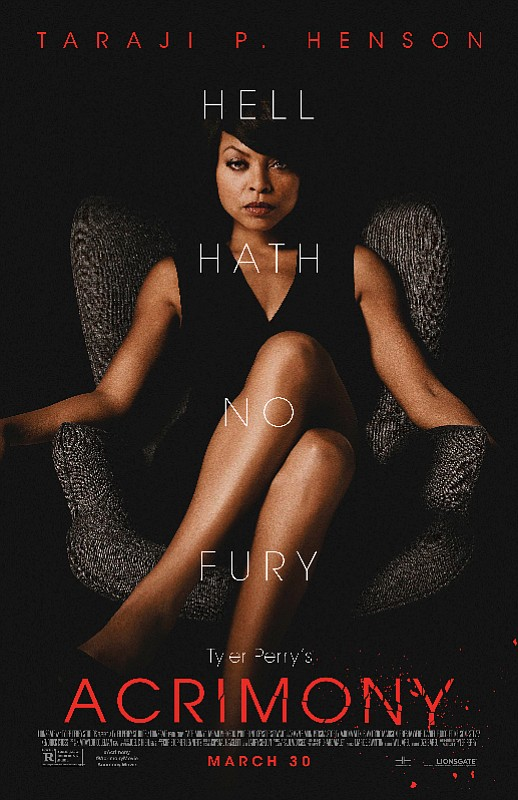 Taraji P. Henson absolutely slays in Tyler Perry's Acrimony, arriving on Digital June 12 and on Blu-ray™ Combo Pack (plus ...