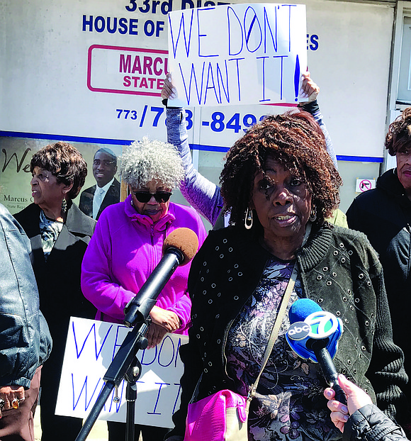 Residents of Chicago's Eighth Ward recently gathered outside the office of their alderman, Michelle Harris, to protest a new senior ...