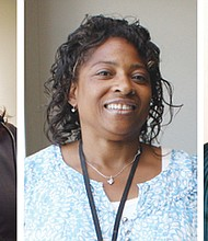 Loretta Smith (from left), Sharon Maxwell and D. Bora Harris are running for elective office in the vote-by-mail May 15, 2018 Primary.  The Portland Observer has endorsed all three candidates for their abilities and proven records of success.