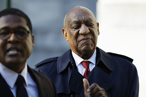 Bill Cosby arrives at the courthouse prior to being found guilty of sexual assault. (AP photo)