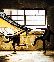 """Kiel Moton and Conrad Kaczor perform for Heidi Duckler Dance Theatre/Northwest in """"Let Alone,"""" a world premiere production tackling homelessness and the need for shelter coming Friday and Saturday, May 4 and 5 at the former Pioneer Oil Building, a historic warehouse at 2636 N.E. Sandy Blvd."""