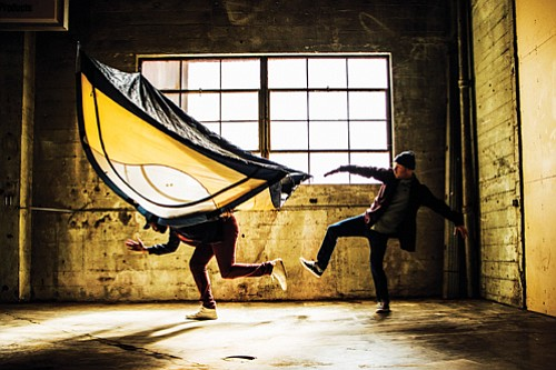 "Kiel Moton and Conrad Kaczor perform for Heidi Duckler Dance Theatre/Northwest in ""Let Alone,"" a world premiere production tackling homelessness and the need for shelter coming Friday and Saturday, May 4 and 5 at the former Pioneer Oil Building, a historic warehouse at 2636 N.E. Sandy Blvd."