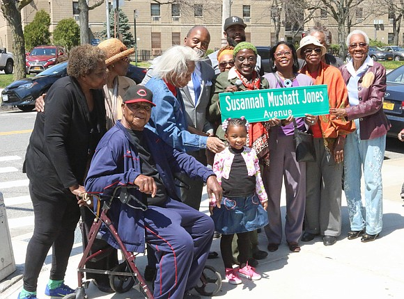 Council Member Inez Barron hosted a street co-naming on May Day, Tuesday, May 1, 2018, at 1 p.m. at the ...