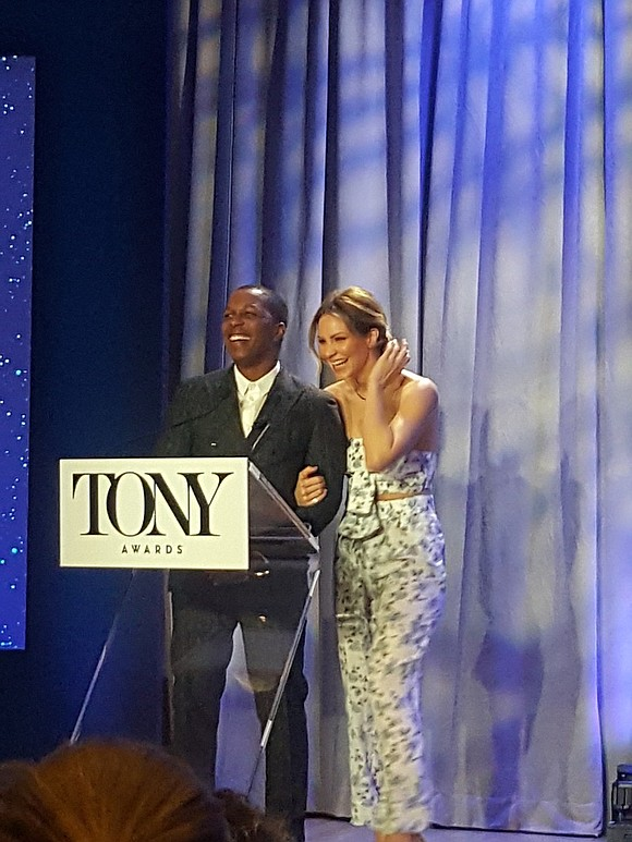 Leslie Odom Jr., who took home the Tony Award for Best Performance by an Actor in a Leading Role in ...