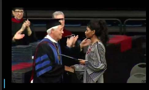 A woman whose daughter was fatally shot at a Nashville Waffle House has accepted her diploma during a commencement ceremony.