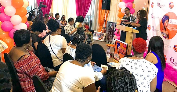 """""""Eight years ago … a lot of things happened in my life,""""said motivational speaker Shameicka Middlebrooks, who was a single ..."""