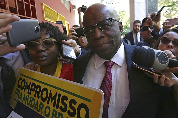 Brazil's first black Supreme Court justice says he won't run for president, quashing widespread speculation.