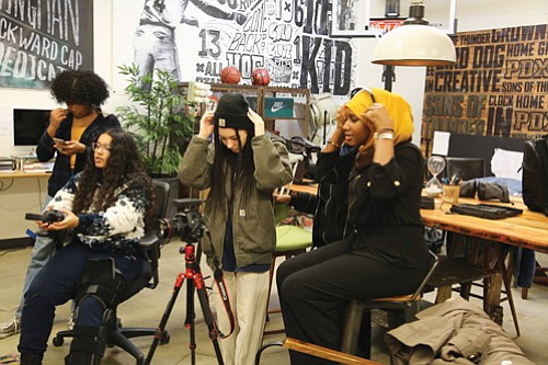 A new generation of youth entrepreneurs learn state-of-the-art video technology through the Green Lighting Black Lives Matter Youth Media Project.