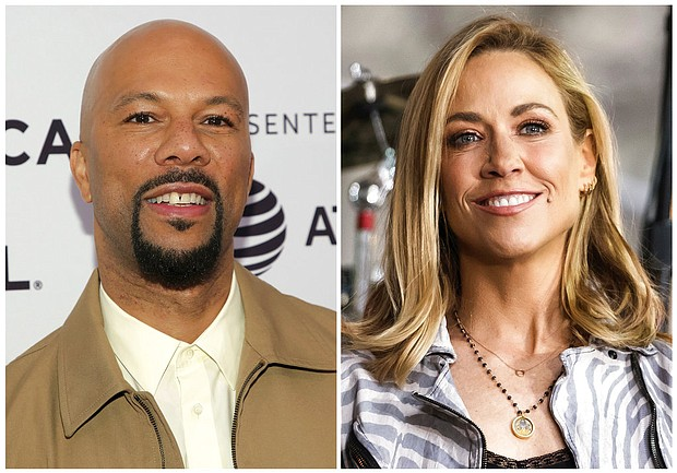 This combination photo shows musicians Common, left, and Sheryl Crow. (AP Photos)