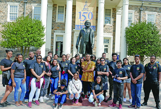 As a high school junior in Akron, Ohio, Malcolm Deluvon Burton founded the My Brother/My Sister organization during Black History Month in 2008. Recently, members of the group traveled to Baltimore and Washington, D.C. to visit Burton's alma mater, Morgan State University and other significant historical sites in the area.