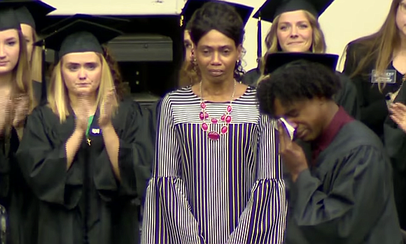 Mother of Waffle House shooting victim accepts college degree on her daughter's behalf