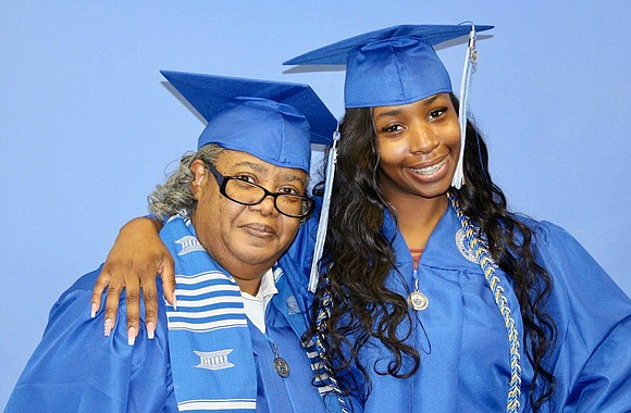Theresa Lyles, 68, and her granddaughter, Zuri Lyles, are...