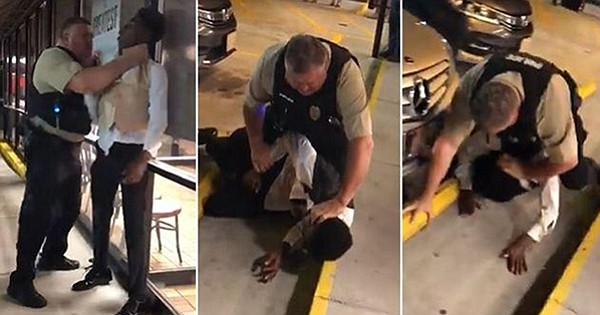 Young Black man chocked slammed and arrested outside of Waffle House in North Carolina