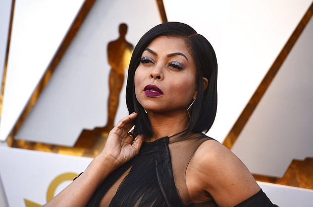 "In this March 4, 2018, file photo, Taraji P. Henson arrives at the Oscars at the Dolby Theatre in Los Angeles. Henson got more than a card on Mother's Day. The ""Empire"" actress got engaged to former Super Bowl star Kelvin Hayden. (Photo by Jordan Strauss/Invision/AP, File)"
