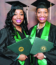 Chicago mother, Joya Knox (right) and daughter, Leza Knox, recently received their bachelor's degrees together on recently from Chicago State University (CSU).