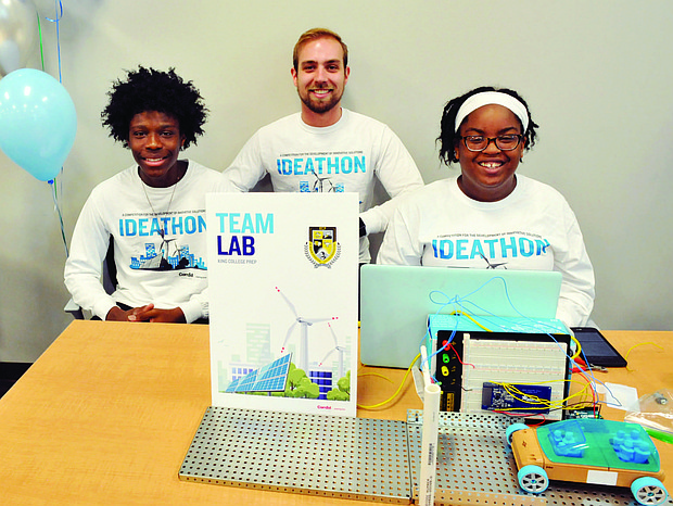 King College Prep High School juniors Ashton Mitchell and Breshayia Kelly (pictured) won first place